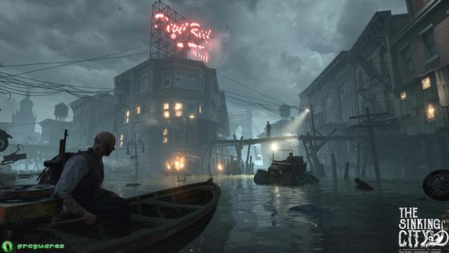 The flooded city looks very impressive and atmospheric, especially on a 4K TV.