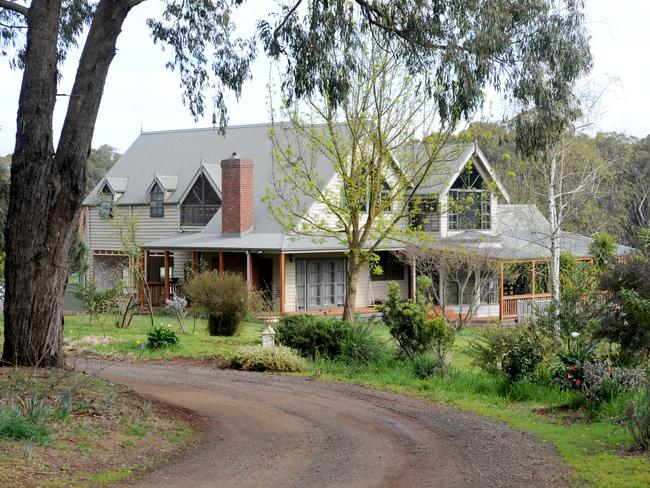 The home of Jacoba and Mark Tromp at 25 Chapman Rd, Silvan who went missing on Monday. Picture: Andrew Henshaw