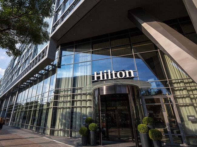 The guest is suing Hilton Worldwide for $US100 million ($AU138 million).