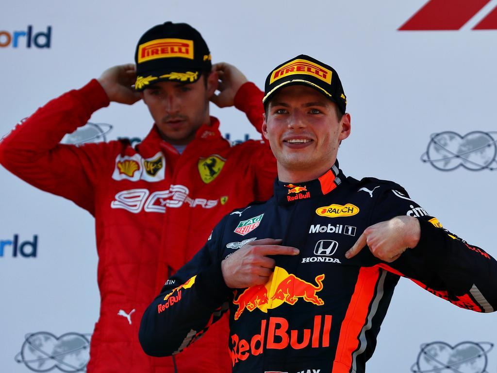 Max Verstappen celebrates after winning last year's Austria GP. (Photo by Mark Thompson/Getty Images)