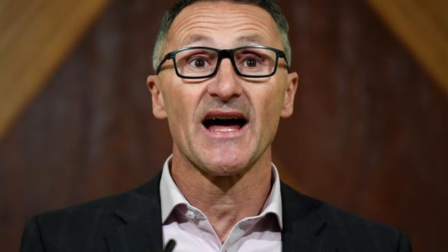 Australian Greens leader Richard Di Natale says legalisation is about taking the power out of the hands of criminals. Picture: AAP Image/James Ross