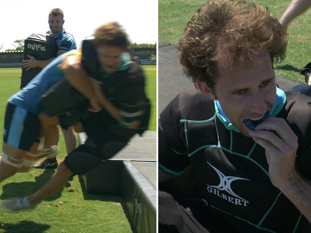 Foxsports.com.au's Christy Doran trains with the Waratahs.