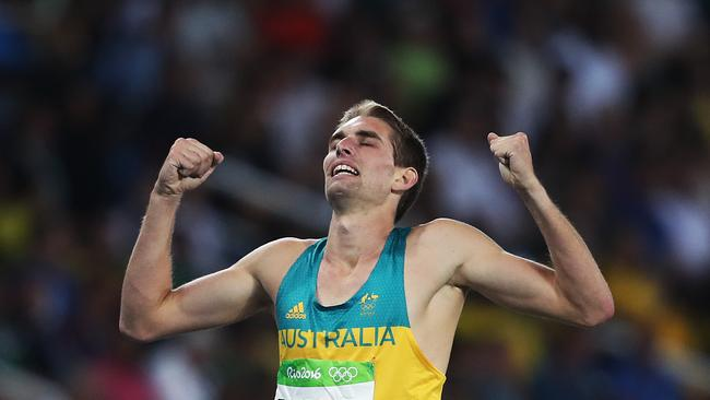 Dubler finishes the 1500m in the Men's decathlon in Rio. Picture. Phil Hillyard