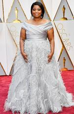 Best Supporting actress nominee Octavia Spencer (Hidden Figures) attends the 89th Annual Academy Awards. Picture: Frazer Harrison/Getty Images