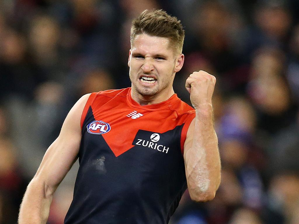 Melbourne's Jesse Hogan remains undecided on his footy future. Picture: Michael Klein