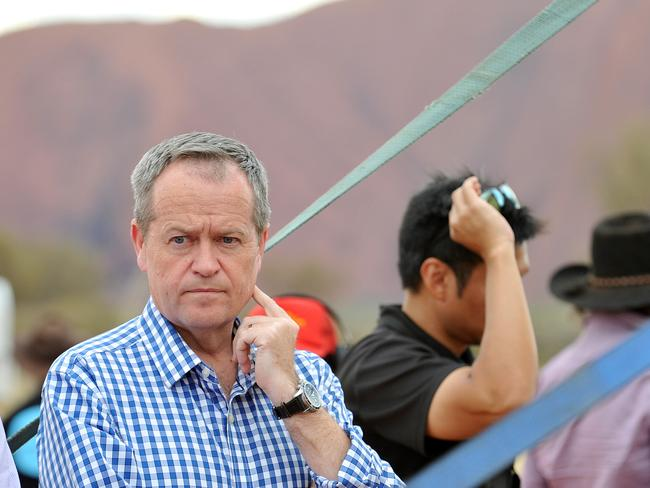 Not impressed ... Bill Shorten wasn't too pleased with Malcolm Turnbull telling states how to run states. Picture: Supplied.