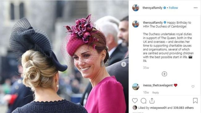 Kate got a much rosier set of happy returns. Image: Instagram