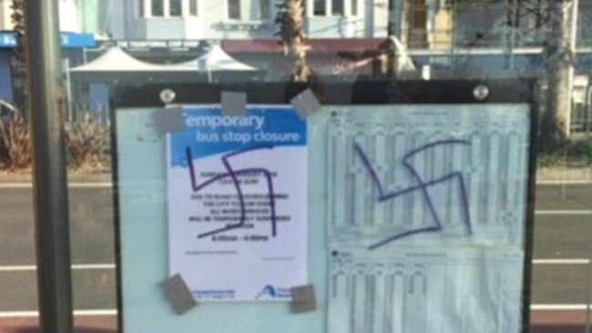 More than 30 swastikas were found painted around Bondi.