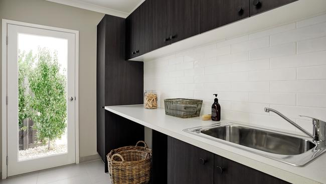 Use the same splashback for your kitchen and laundry for flow.