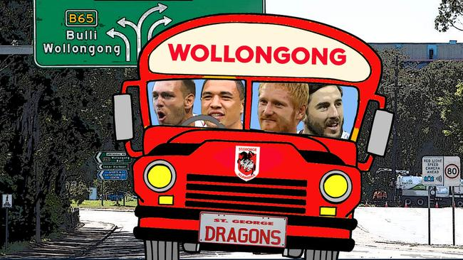 The Dragons bus making new recruits feel at home.