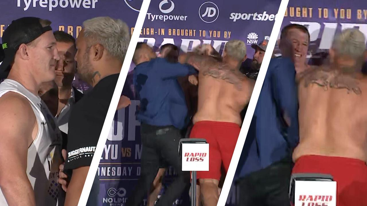 Mark Hunt wanted to get the fight done at the weigh-ins with Paul Gallen.