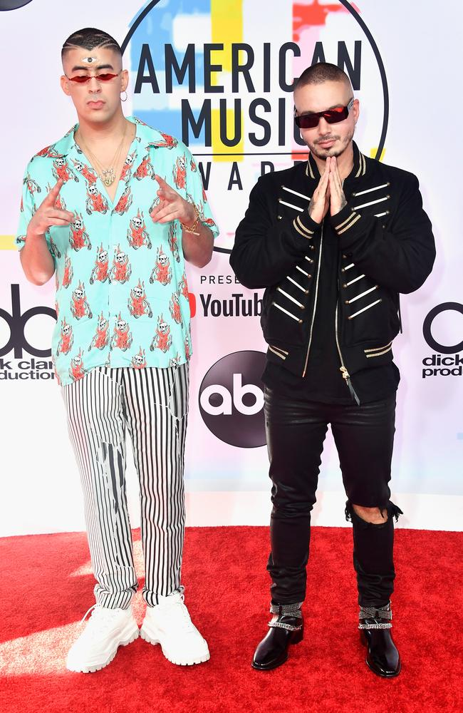 L-R: Bad Bunny and J Balvin. No, I don't know either. Picture: Getty