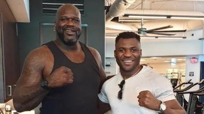 UFC monster spooked by Shaq photo