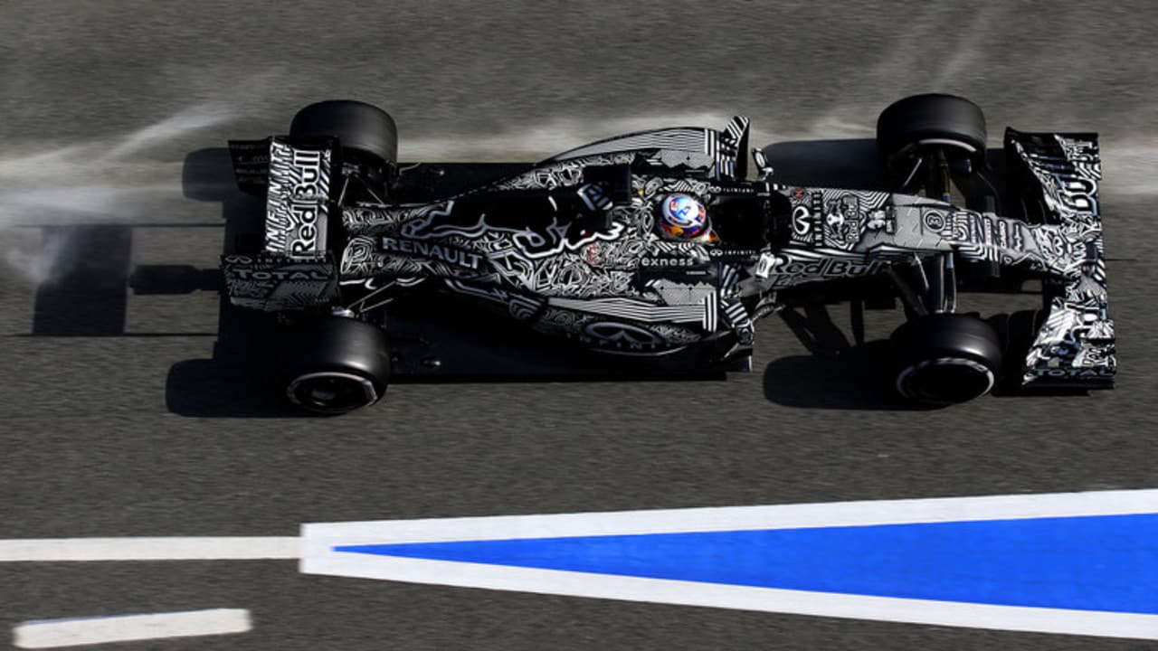 In 2015, Red Bull tested in a camouflage livery to hide their aerodynamics.