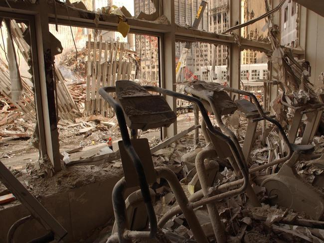 A health club in the World Financial Centre after the 9/11 attacks. Picture: Alamy