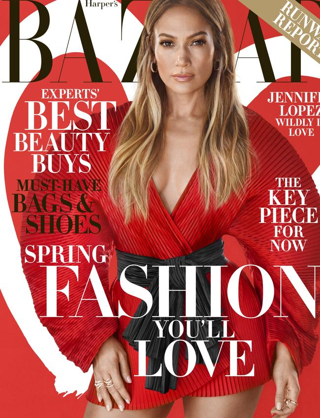Jennifer Lopez for the Harper's Bazaar US February edition. Picture: Camilla Akrans/Harper's Bazaar