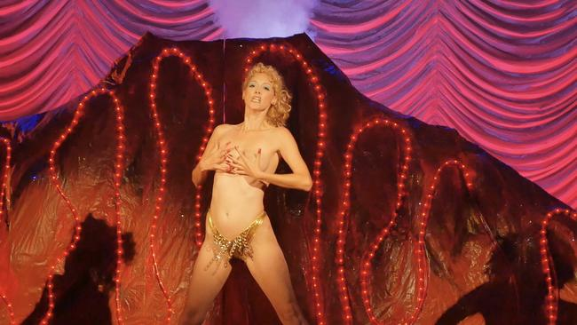 There is now a tribute, and satirical, Showgirls musical with other actors sending up the original. Picture: Jeffrey McHale.