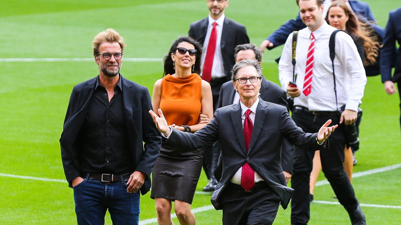 Jurgen Klopp and John W Henry together at Anfield.