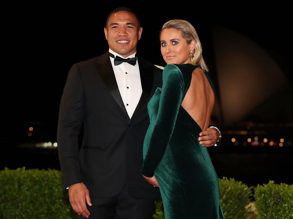 Tyson Frizell and wife Samantha on the red carpet.