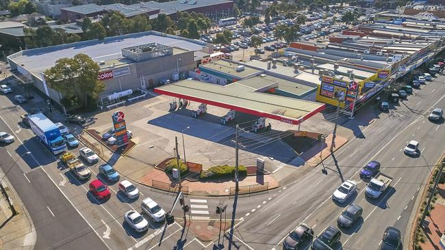 The chain's Clayton petrol station neighbours a significant shopping strip.
