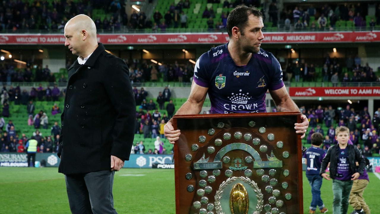 Todd Greenberg won't bow to Cameron Smith's calls to re-examine Storm's 2010 punishment. Picture: Colleen Petch.