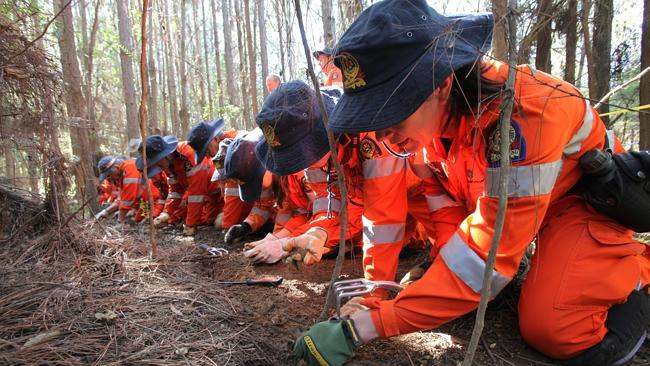 The search for Daniel's remains. Picture: Queensland Police.