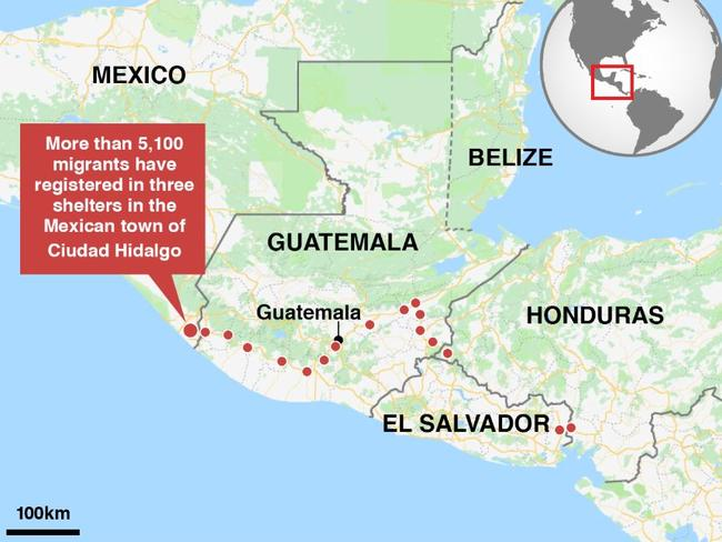 The route the migrants have taken on their arduous journey over thousands of kilometres, which has already lasted more than a week.