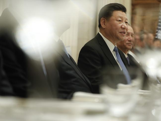 China's President Xi Jinping speaking during their bilateral meeting with President Donald Trump at the G20 Summit. Picture: AP