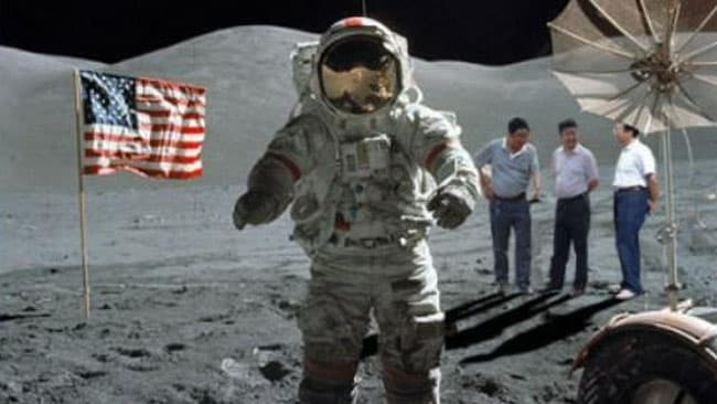 Don't think much of the tarmac here? The officials even made an appearance on the Moon. Picture: Supplied