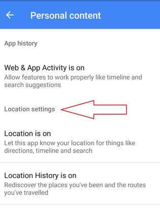 Find your location settings by clicking the Burger icon.