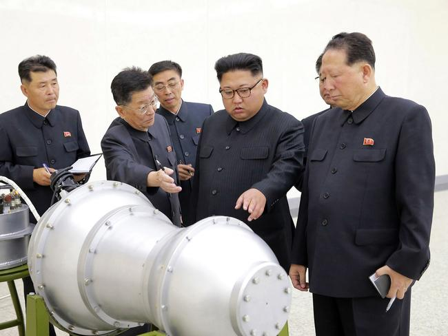 North Korea claim it successfully tested a hydrogen bomb. Picture: KCNA/AP
