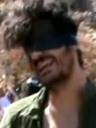 American freelance journalist Austin Tice seen blindfolded in Syria. Picture: YouTube