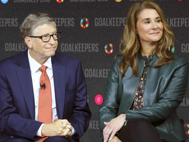 Bill Gates and Melinda Gates. Picture: AFP