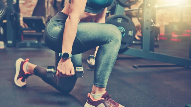 Your pelvic floor needs time to recover before any weight lifting. Image: iStock.