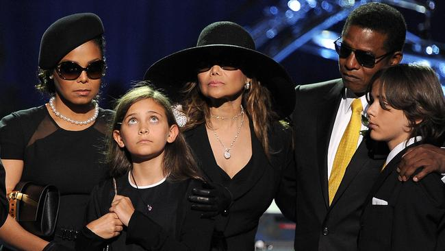 Paris at Michael Jackson's funeral in 2009. Picture: GABRIEL BOUYS