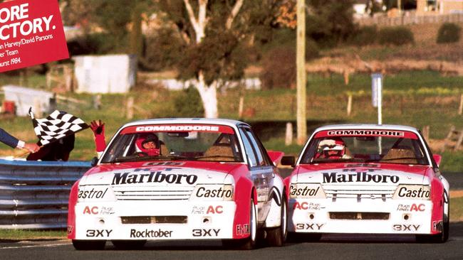 The famous 1-2 win for Holden in 1984. Car 25 came second. Picture: Supplied.