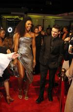 Kelly Rowland and The Voice 2018 winner Sam Perry arrive at the 2018 Logie Awards at The Star Casino on the Gold Coast, Sunday, July 1, 2018. Picture: AAP Image/Regi Varghese