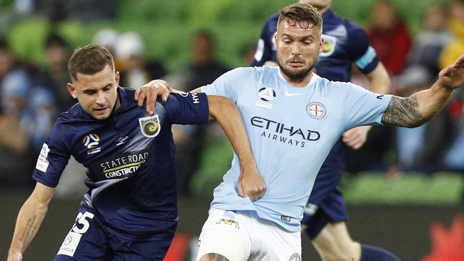 Bart Schenkeveld was a rock at the back for City. Picture: AAP