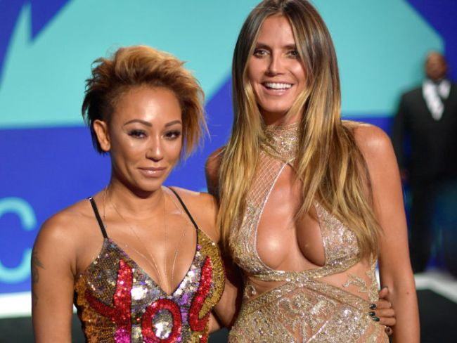 Girl power! Mel B and Heidi Klum attend 2017 MTV Video Music Awards, August 27, 2017 in California. Photo: Matt Winkelmeyer/Getty Images.
