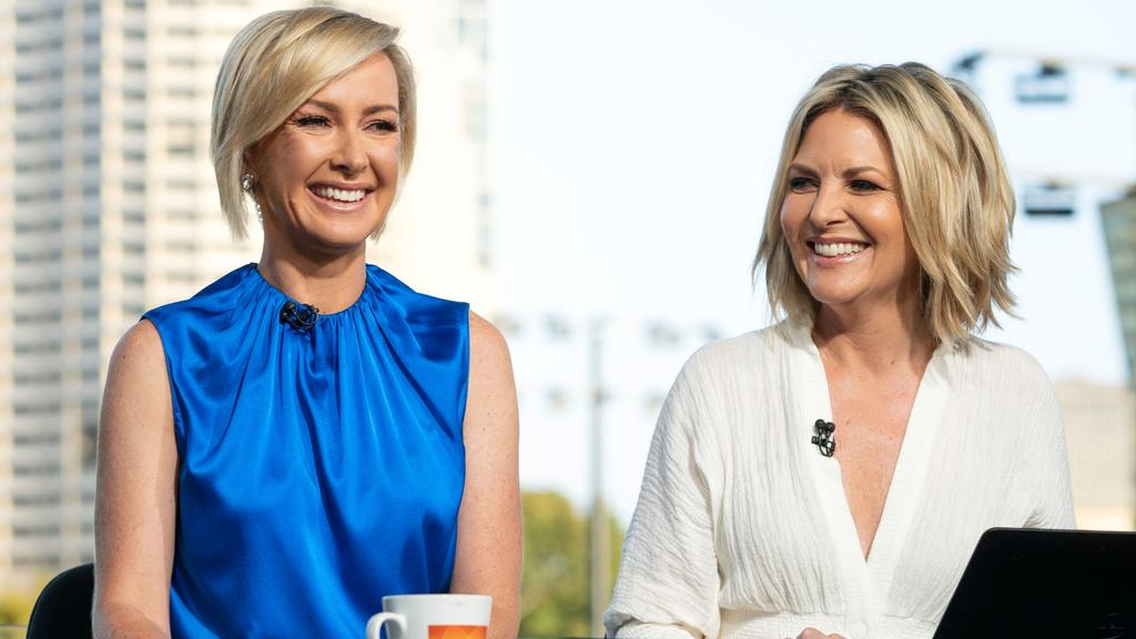 A publicity shot of Deb Knight and Georgie Gardner earlier this year when the new line up was launched at the Australian Open.