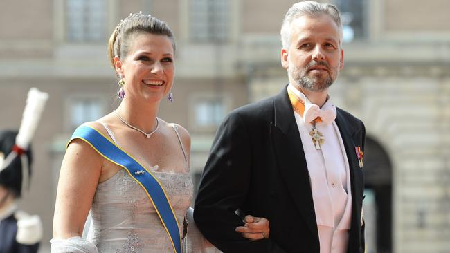 Princess Martha of Norway and her ex-husband, Ari Behn, in 2015. Picture: AFP