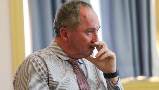 "Nationals MP Barnaby Joyce says he has ""zero prospects"" of being handed a cabinet position. Picture: AAP Image/Steve Gonsalves."