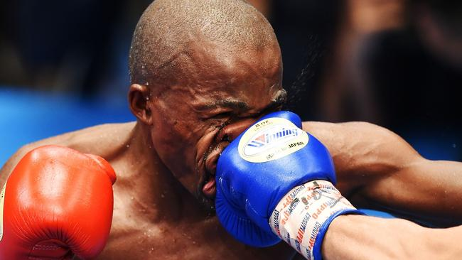 Incredible moment Babyface battered