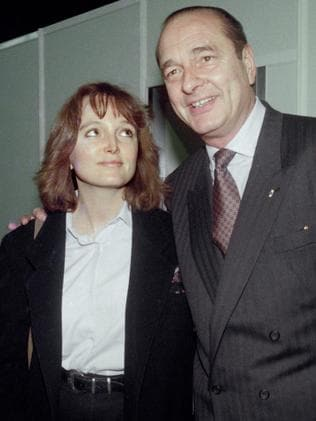 Jacques Chirac poses with his daughter Claude in 1990. Picture: AFP