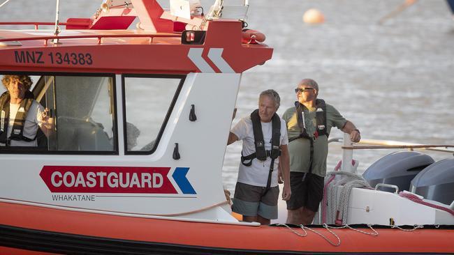 Coastguard rescue boats are pictured alongside the marina near Whakatane in Whakatane, New Zealand. Picture: John Boren/Getty Images