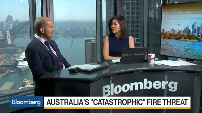 The bushfires have been making headlines around the world. Picture: Bloomberg