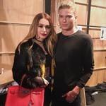 """Lianna Perdis and Jordan Barrett ... """"Backstage at Justin Cassin"""" Picture: @liannaperdis/Instagram"""