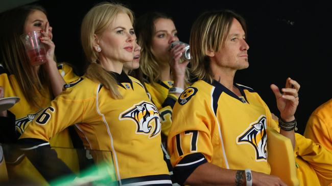 Actress Nicole Kidman and Keith Urban attend the Stanley Cup Final.