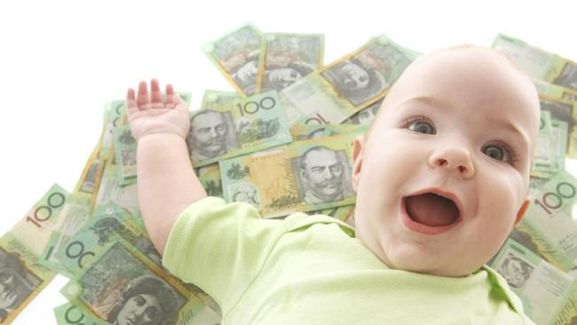 Expensive procedure ... having a baby in a private hospital costs an average $8,500. Picture: Supplied