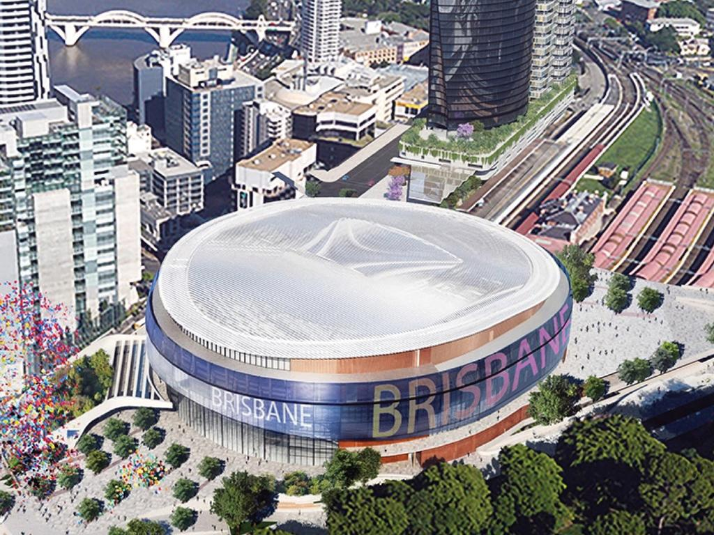 Supplied images of the proposed Brisbane Live site. Picture: Supplied